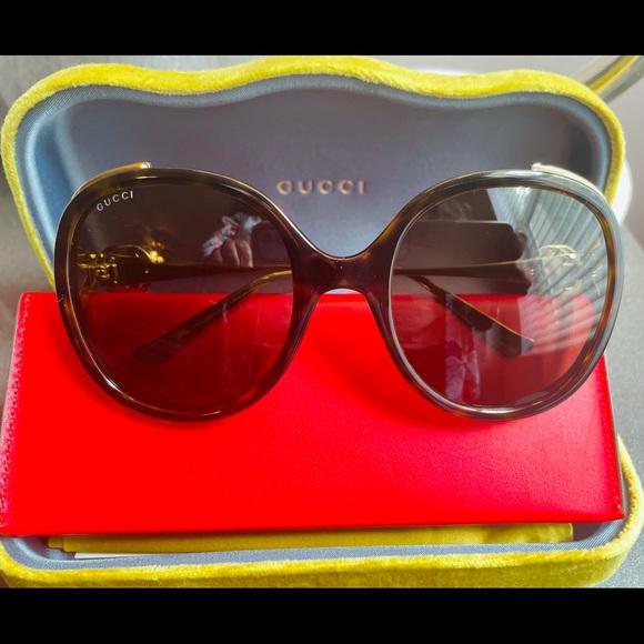 GUCCI GG Sunglasses- Brown/ Havana NEW